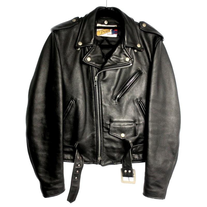 【中古】Schott ショット 618 ダブルライダースジャケット レザージャケット サイズ:38 カラー:ブラック / アメカジ【f093】
