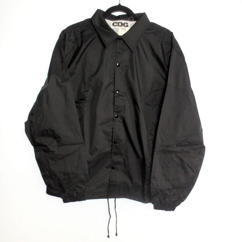 【中古】COMME des GARCONS コムデギャルソン ロゴ コーチジャケット サイズ:L カラー:ブラック / ドメス【f108】