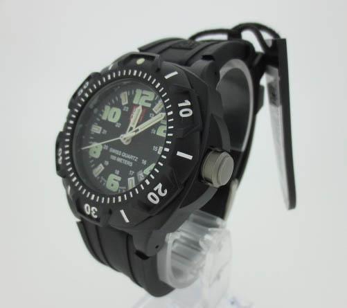 【中古】LUMINOX ルミノックス ナイトビュー 時計 腕時計  0201.SL ブラック×ブラック クォーツ ラバーベルト