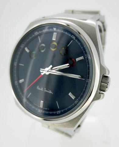 【中古】Paul Smith/ポールスミス 腕時計 リストウォッチ BM5-011-71 ネイビー×シルバー クォーツ ステンレススティールベルト