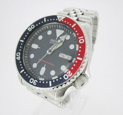 【中古】SEIKO セイコー 腕時計 リストウォッチ SKX009K2 ネイビー系×シルバー 自動巻き(オートマチック) ステンレススティールベルト