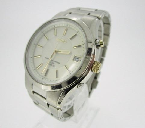 【中古】SEIKO セイコー 腕時計 リストウォッチ SBTM119 ×シルバー系 ソーラー チタンベルト