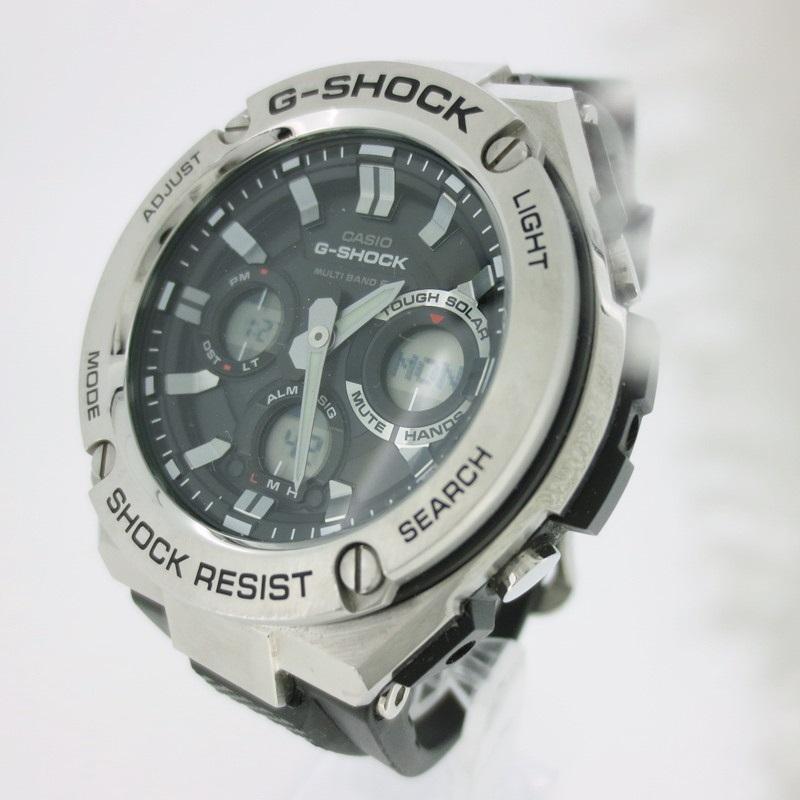 【中古】CASHIO カシオ G-SHOCK Gショック 腕時計 リストウォッチ GST-W110 ブラック×ブラック クォーツ 樹脂バンド【f131】