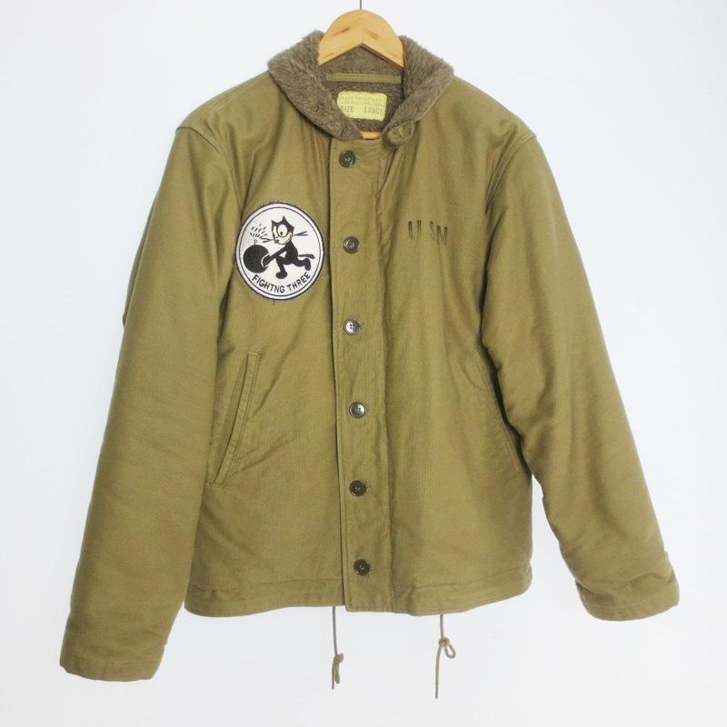 【中古】BUZZ RICKSON'S バズリクソンズ N-1 VF-3 デッキジャケット サイズ:L カラー:カーキ系 / アメカジ【f093】