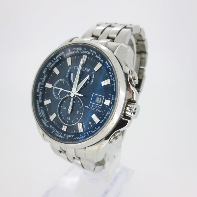 【中古】CITIZEN シチズン H820-T021697 電波ソーラー 腕時計 【f131】
