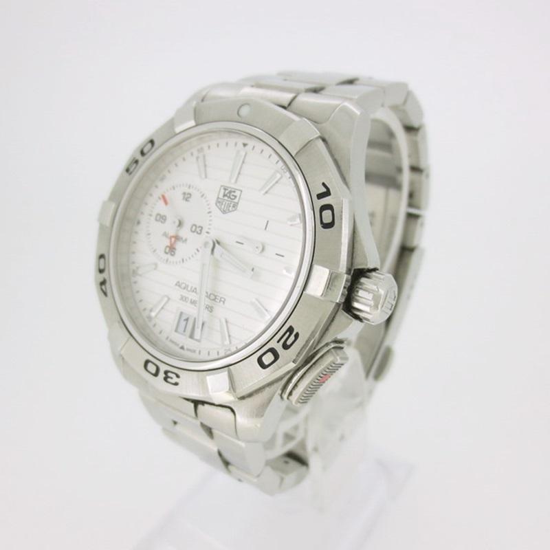 【中古】TAG Heuer タグホイヤー Aquaracer Grand-Date アクアレーサーグランドデイト クォーツ 腕時計 Ref.EKK1554 【f132】