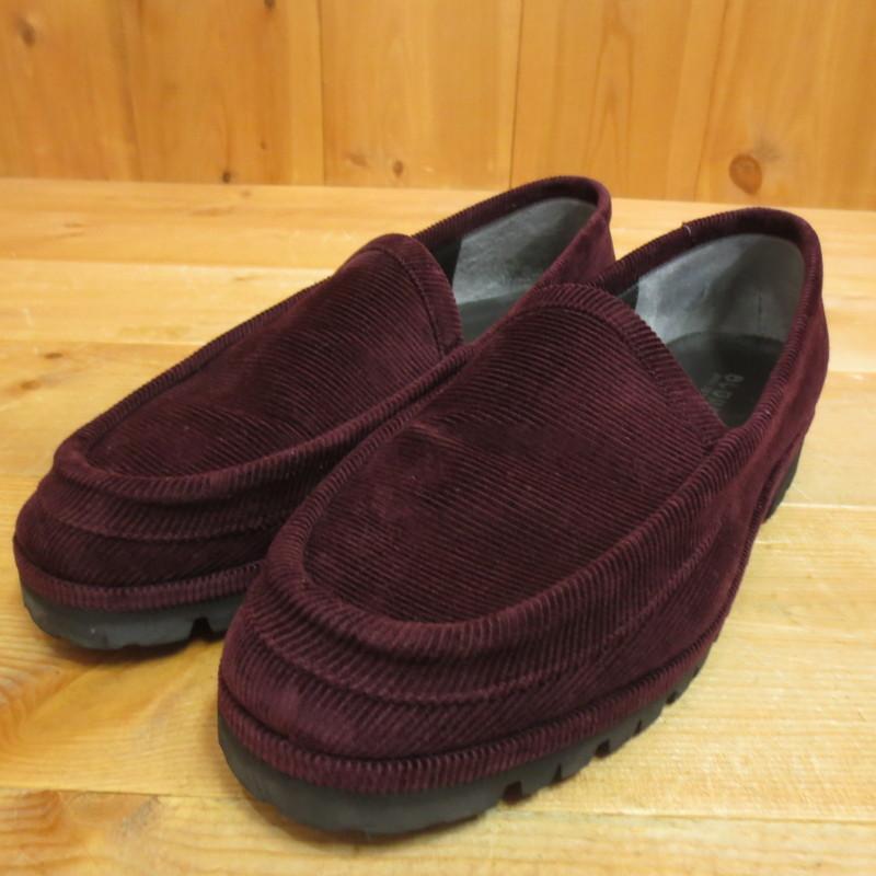 【中古】BLOHM ブローム コーデュロイローファー 靴 サイズ:26.5 カラー:ボルドー系【f127】