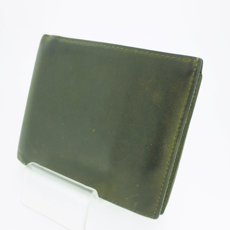 【中古】L'ARC DE ST.BERNARD ラルクドサンベルナール ナポレオンカーフ 二つ折り 財布 ウォレット【f124】