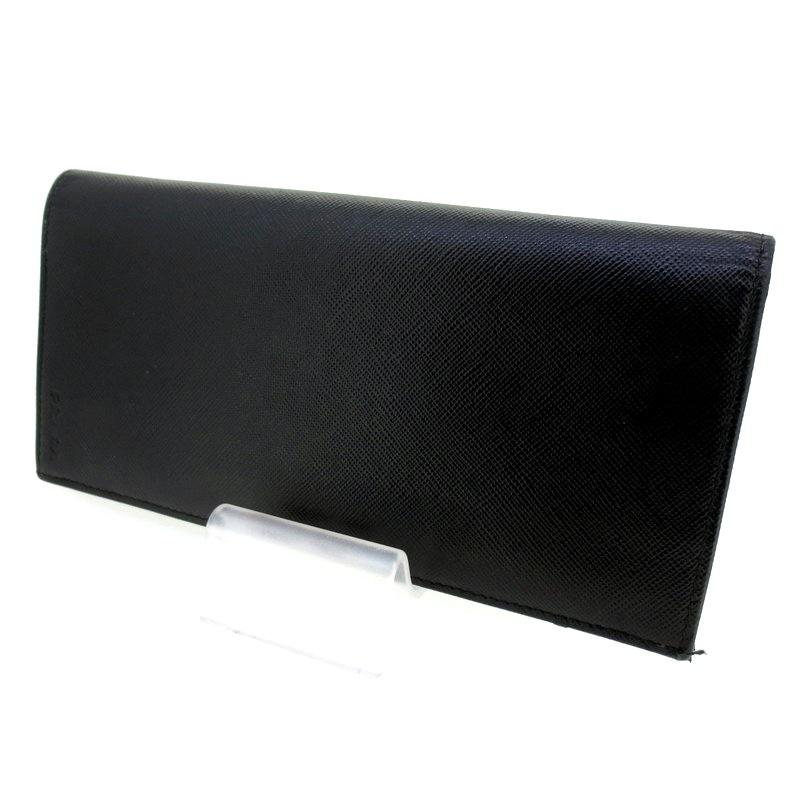 【中古】PRADA プラダ 二つ折り 長財布 ウォレット 2M0836 サイズ:- カラー:ブラック【f125】