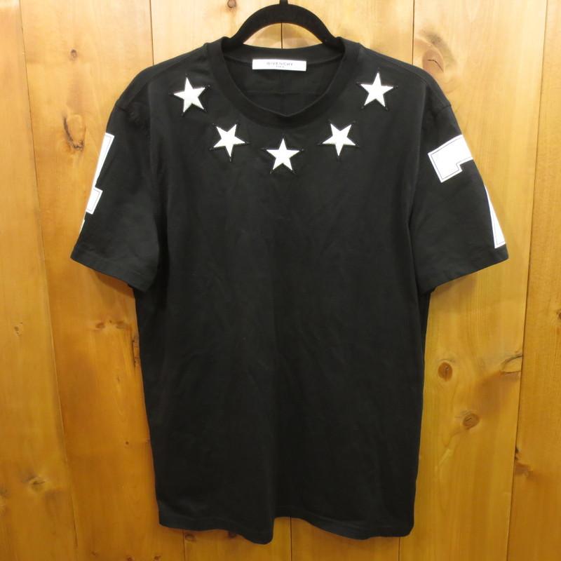 【中古】GIVENCHY ジバンシィ ジバンシー スターパッチ ナンバリング 半袖 Tシャツ サイズ:L カラー:ブラック【f135】