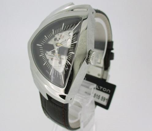 【中古】HAMILTON ハミルトン VENTURA 腕時計 リストウォッチ H24515591 ブラウン×ブラウン 自動巻き(オートマチック) 革(レザー)ベルト