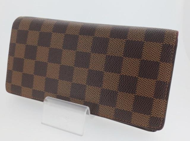 【中古】LOUIS VUITTON ルイ・ヴィトン N60017 ダミエ ポルトフォイユ・ブラザ 二つ折り長財布 ウォレット