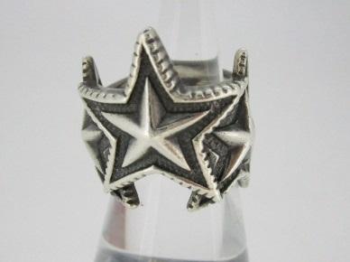【中古】CodySanderson コディサンダーソン 3Interlocking Star シルバーリング 指輪