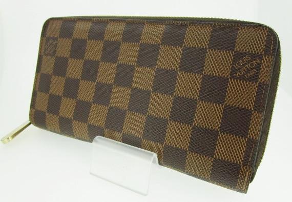 【中古】LOUIS VUITTON ルイ・ヴィトン N60015 ダミエ ラウンドファスナー 長財布 ウォレット