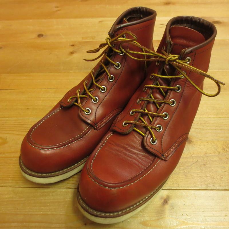 【中古】RED WING レッドウィング 6inch Classic Work Moc Toe 6インチ クラシックワーク モックトゥ ブーツ E8875 サイズ:28cm カラー:ブラウン【f127】