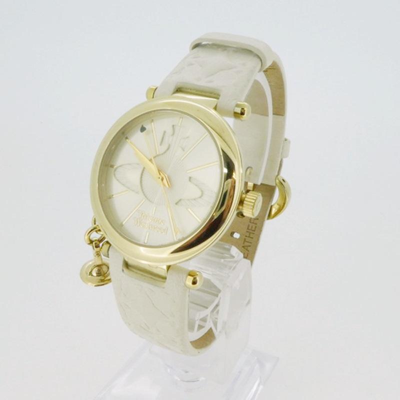 中古 Vivienne Westwood ヴィヴィアンウエストウッド VV006WHWH 数量は多 クォーツ 腕時計 カラー:ホワイト系 gwpu サイズ: f131 値引き