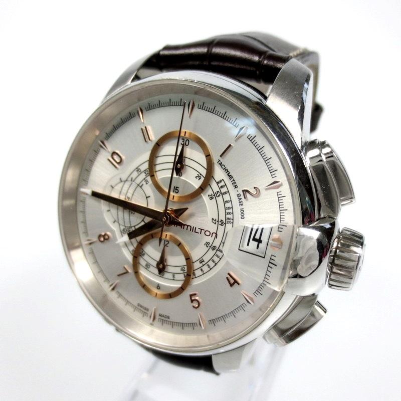 【中古】HAMILTON ハミルトン 腕時計 リストウォッチ サイズ:- カラー:ホワイト×ブラウン【f131】