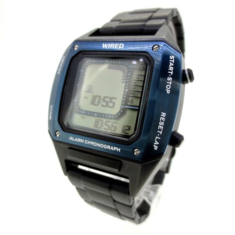 【中古】SEIKO WIRED セイコー ワイアード 腕時計 リストウォッチ サイズ:- カラー:ブラック×ネイビー【f131】