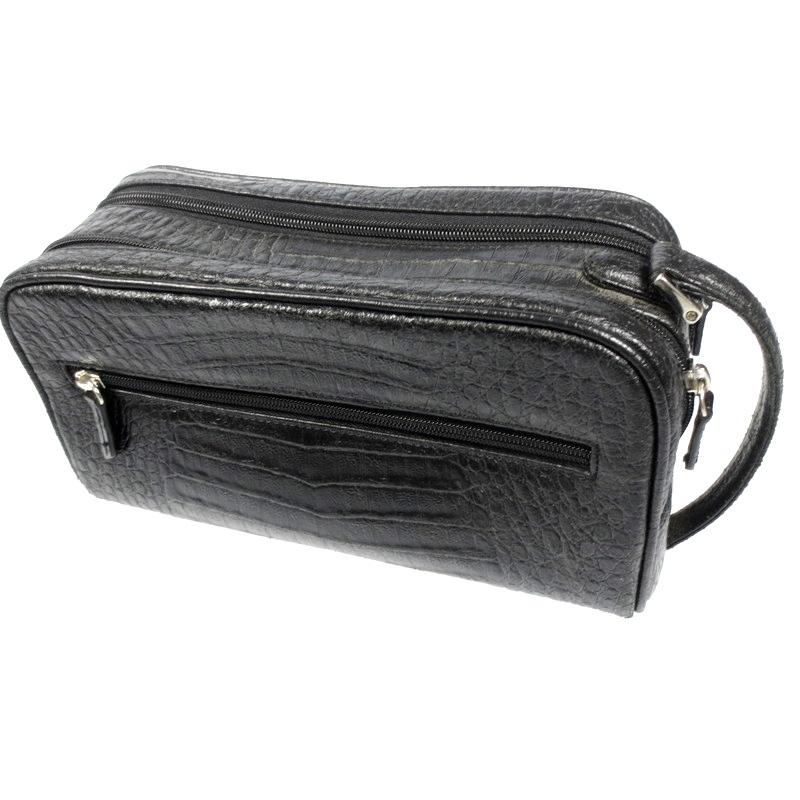 【中古】CAIMAN カイマン ワニ革 セカンドバッグ サイズ:- カラー:ブラック【f121】