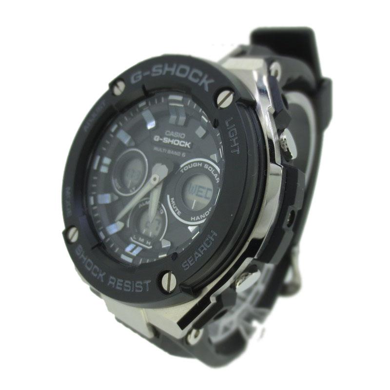 【中古】CASIO G-SHOCK カシオ ジーショック 腕時計 リストウォッチ GST-W300-1A ブラック×ブラック ソーラー 樹脂バンド【f131】