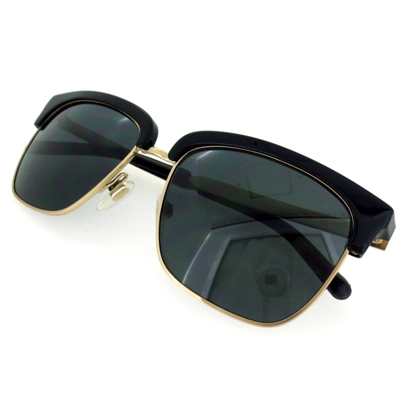 【中古】BURBERRY バーバリー サングラス サイズ:55□17 カラー:ブラック×ゴールド【f116】