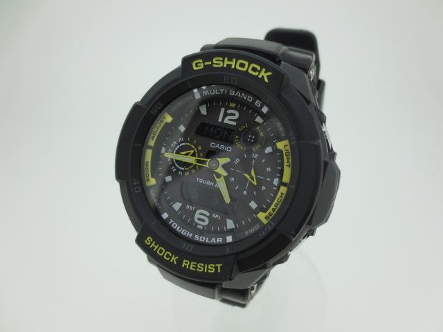 【中古】CASHIO カシオ G-SHOCK ジーショック GRAVITY MASTER 腕時計 GW-3500B ブラック×ブラック ソーラー 樹脂バンド