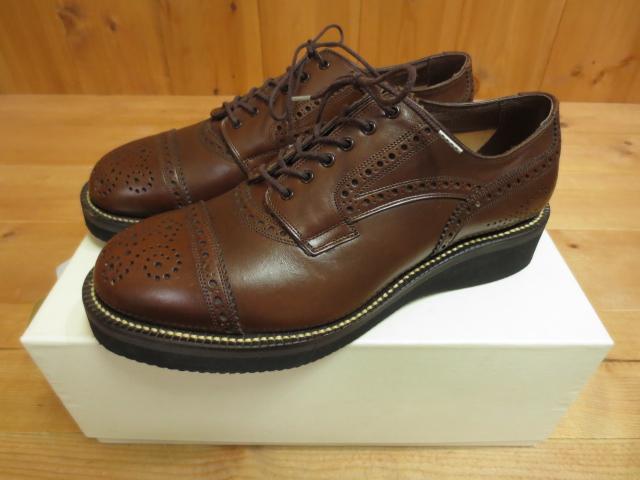 【中古】foot the coacher フットザコーチャー ストレートチップメダリオン サイズ:9 カラー:ブラウン