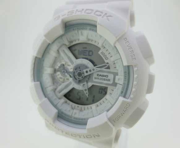 【中古】CASHIO カシオ G-SHOCK ジーショック 腕時計 GA-110BC ホワイト×ホワイト クォーツ 樹脂バンド