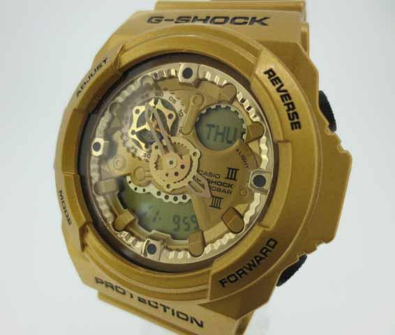 【中古】CASHIO カシオ G-SHOCK ジーショック 時計 GA-300GD ゴールド×ゴールド クォーツ 樹脂バンド