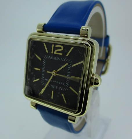 【中古】MARCJACOBS マークジェイコブス 時計 MJI 438 ブラック×グレー クォーツ 革(レザー)ベルト