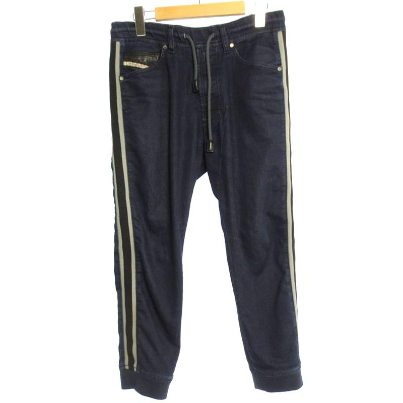 【中古】DIESEL ディーゼル NARROT サイドライン ジョグジーンズ サイズ:26 カラー:インディゴ系 / インポート【f107】