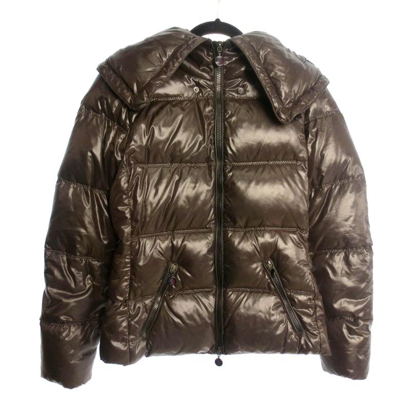 【中古】MONCLER モンクレール ALISO ダウンジャケット サイズ:1 カラー:ブラウン / インポート【f108】