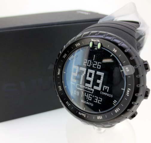 【中古】SUUNTO/スント Core all black/コア オールブラック 腕時計 リストウォッチ - ブラック×ブラック クォーツ ステンレススティールベルト