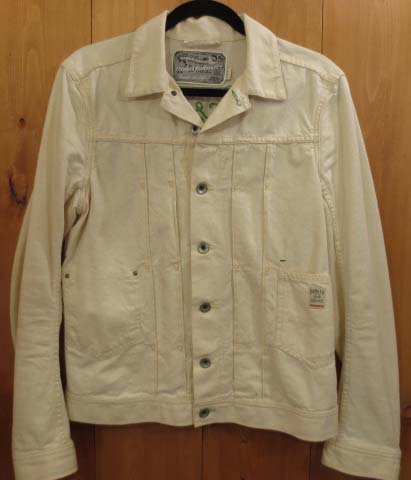 【中古】DIESEL/ディーゼル デニムジャケット サイズ:S カラー:ホワイト系 / インポート