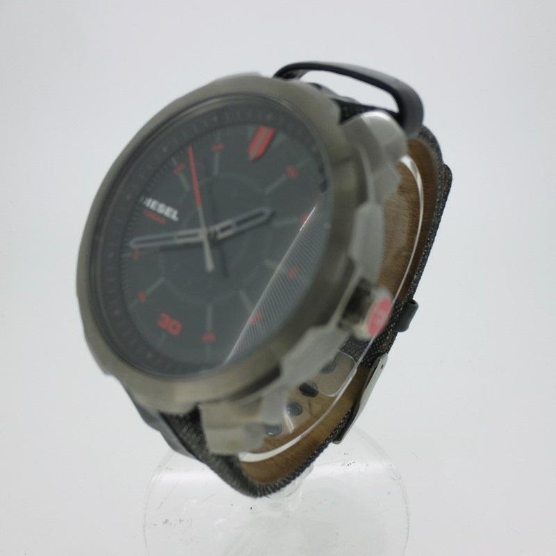 【中古】DIESEL ディーゼル 腕時計 リストウォッチ DZ-1785 ×ブラック系 クォーツ 革(レザー)ベルト【f131】