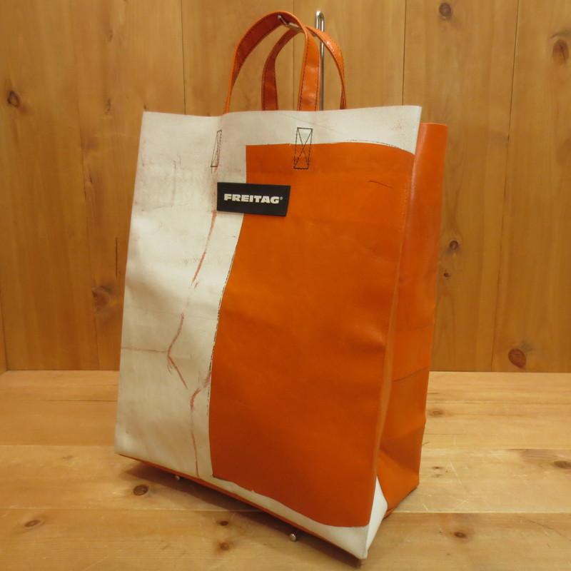 【中古】FREITAG フライターグ MIAMI VICE マイアミ VICE トートバッグ サイズ:- カラー:オレンジ×ホワイト系【f121】
