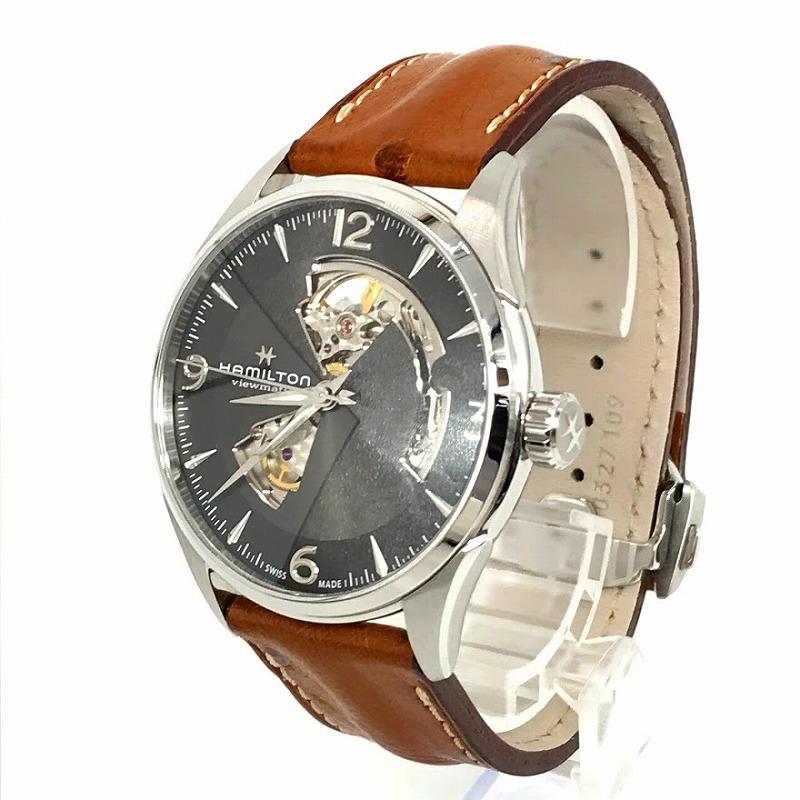 中古 HAMILTON ハミルトン ジャズマスタービューマチック オープンハート f132 腕時計 輸入 自動巻き H327050 いつでも送料無料