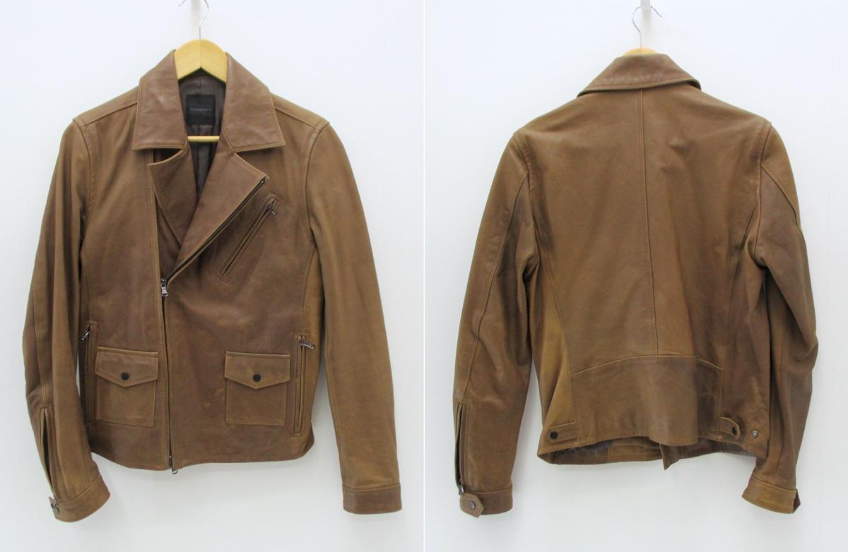 【中古】DESIGNWORKS/デザインワークス ホースレザーダブルライダースジャケット サイズ:46 カラー:ブラウン / 渋谷系