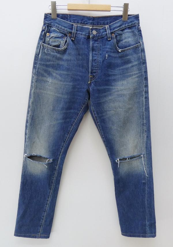 【中古】LEVI'S VINTAGE CLOTHING/リーバイス ビンテージ クロージング ダメージ加工デニムパンツ サイズ:30 カラー:ブルー / アメカジ【f107】