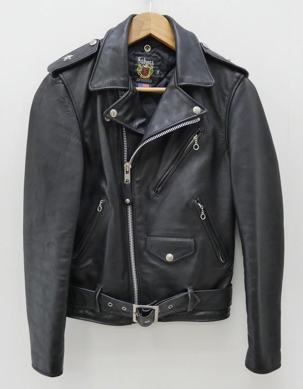 【中古】Schott/ショット ワンスターダブルライダースジャケット サイズ:34 カラー:ブラック / アメカジ【f093】