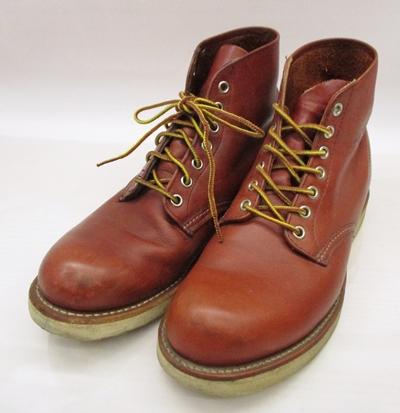 【中古】RED WING/レッドイウング 8166 プレーントゥワークブーツ サイズ:8 カラー:ブラウン