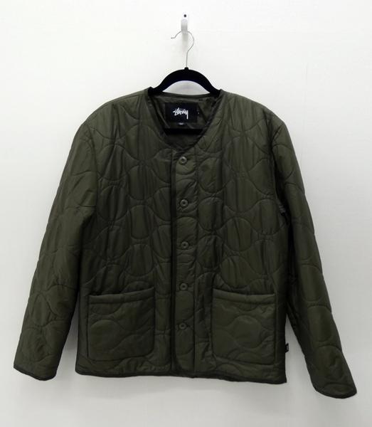 【中古】STUSSY/ステューシー キルティングジャケット サイズ:L カラー:カーキ / ストリート【f095】