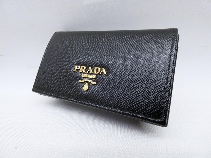 【中古】PRADA/プラダ 1MC122 サフィアーノ カードケース【f125】