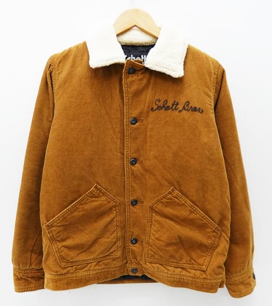 【中古】Schott /ショット CORDUROY WORK JKT BELL RANCHランチコート サイズ:M カラー:ブラウン / アメカジ【f093】