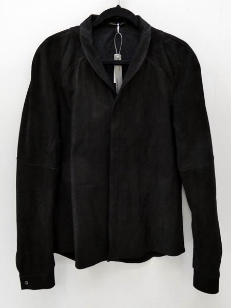 【中古】SADDAM TEISSY/サダムテイシー ヌバックレザーシャツ サイズ:3 カラー:ブラック【f096】