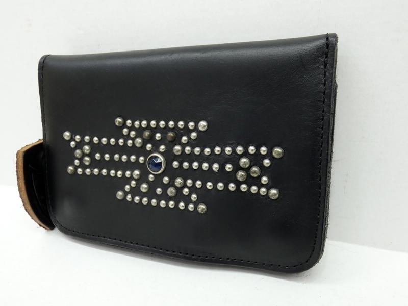 【中古】HTC/エイチティーシー WALLET/2つ折り長財布 カラー:ブラック【f124】
