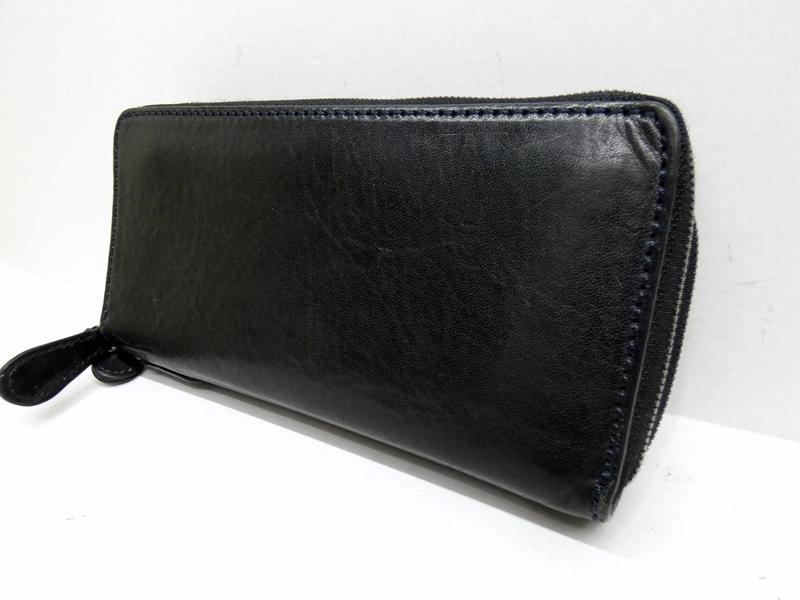 【中古】NOMADO/ノマドイ アラバマ ダブルラウンドファスナー長財布 カラー:ブラック【f124】