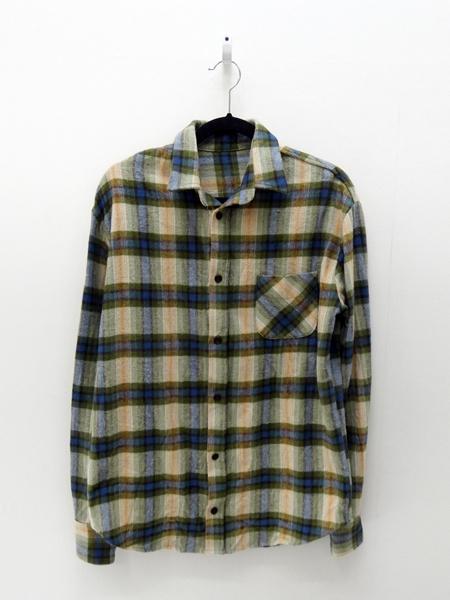 【中古】HAIDER ACKERMANN/ハイダーアッカーマン サザビーリーグ正規品L/Sネルシャツ サイズ:XS カラー:マルチカラー【f108】
