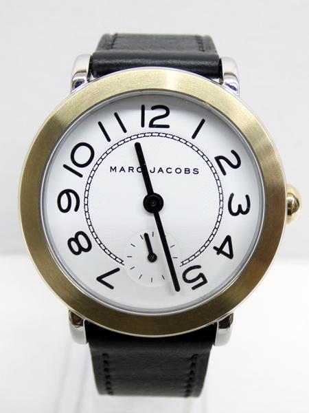 【中古】MARC JACOBS/マークジェイコブス 腕時計 MJ1514 ホワイト×ブラック クォーツ 革(レザー)ベルト【f131】
