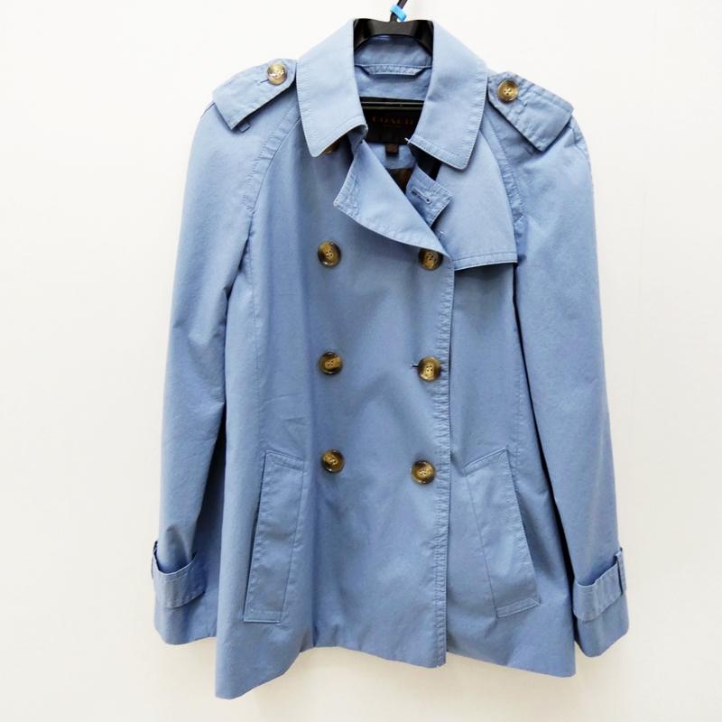 【中古】COACH/コーチ F85627 トレンチコート サイズ:S カラー:ブルー【f135】